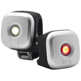 Knog Blinder 1 Sykkellys sett 1 LED Twinpack, Standard sølv